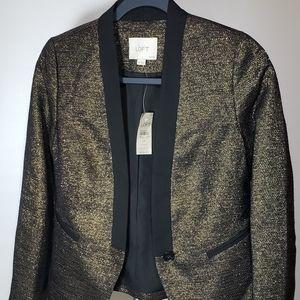 Ann Taylor Loft Jacket Gold/Black Blazer